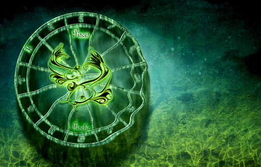 Picture of Pisces horoscope sign